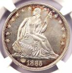 1885 SEATED LIBERTY HALF DOLLAR 50C   NGC UNCIRCULATED DETAILS  MS UNC