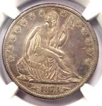1873 CC ARROWS SEATED LIBERTY HALF DOLLAR 50C COIN   CERTIFIED NGC VF DETAILS