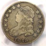 1819 CAPPED BUST QUARTER 25C  SMALL 9    PCGS FINE DETAILS    DATE COIN