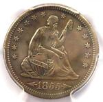 1855 S ARROWS SEATED LIBERTY QUARTER 25C   PCGS XF DETAILS    TYPE COIN