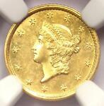 1852 LIBERTY GOLD DOLLAR COIN G$1 COIN   NGC UNCIRCULATED DETAILS  UNC MS