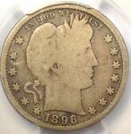 1896 S BARBER QUARTER 25C   PCGS G6    KEY DATE CERTIFIED COIN