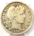1896 S BARBER QUARTER 25C   PCGS FINE DETAILS    KEY DATE CERTIFIED COIN