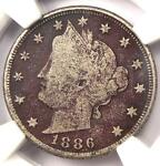 1886 LIBERTY NICKEL 5C   NGC FINE DETAILS    KEY DATE CERTIFIED COIN