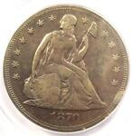 1870 CC SEATED LIBERTY DOLLAR $1   ANACS VG8 DETAILS    CARSON CITY COIN
