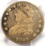 1821 CAPPED BUST QUARTER 25C   PCGS F12    EARLY DATE COIN   $400 VALUE