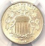 1882 SHIELD NICKEL  5C COIN    CERTIFIED PCGS UNCIRCULATED DETAILS  MS BU UNC