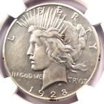 1928 PEACE SILVER DOLLAR $1   NGC XF DETAILS  EF     1928 P KEY DATE COIN