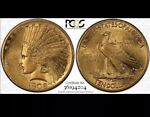1908 MOTTO $10 GOLD INDIAN HEAD PCGS GOLD SHIELD AU58