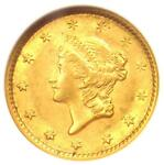 1853 LIBERTY GOLD DOLLAR COIN G$1   CERTIFIED ANACS AU58    COIN