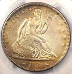 1873 S ARROWS SEATED LIBERTY HALF DOLLAR 50C   PCGS AU DETAILS    COIN