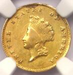 1855 C INDIAN GOLD DOLLAR G$1   CERTIFIED NGC AU DETAILS    CHARLOTTE COIN