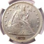 1872 SEATED LIBERTY SILVER DOLLAR $1   NGC VF DETAILS    CERTIFIED COIN
