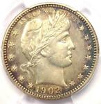 1902 O BARBER QUARTER 25C COIN   PCGS UNCIRCULATED DETAILS  UNC MS     DATE