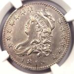 1815 CAPPED BUST QUARTER 25C WITH E STAMP   NGC AU DETAILS    DATE COIN