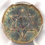 1861 THREE CENT SILVER PIECE 3CS   PCGS AU DETAILS    CIVIL WAR DATE