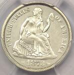 1873 ARROWS PROOF SEATED LIBERTY DIME 10C COIN   PCGS PROOF UNC DETAILS  PF/PR