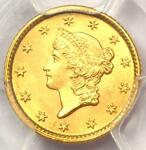 1853 LIBERTY GOLD DOLLAR COIN G$1   PCGS MS65    IN MS65   $2 500 VALUE