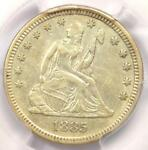 1885 SEATED LIBERTY QUARTER 25C   CERTIFIED PCGS XF45  EF45     DATE COIN