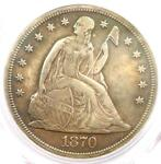 1870 CC SEATED LIBERTY DOLLAR $1   PCGS AU DETAILS    CARSON CITY COIN