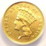 1879 THREE DOLLAR INDIAN GOLD COIN $3   CERTIFIED ANACS XF45 DETAIL    DATE