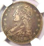 1836 REEDED EDGE CAPPED BUST HALF DOLLAR 50C COIN   NGC VF DETAILS   KEY DATE