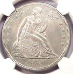1859 SEATED LIBERTY SILVER DOLLAR $1 COIN   NGC UNCIRCULATED DETAIL  UNC MS