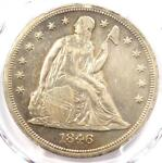 1846 O SEATED LIBERTY SILVER DOLLAR $1   PCGS AU DETAILS    DATE COIN
