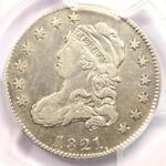 1821 CAPPED BUST QUARTER 25C   PCGS VF DETAILS    DATE COIN   NEAR XF