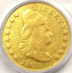1802/1 CAPPED BUST GOLD QUARTER EAGLE $2.50 COIN   PCGS CERTIFIED    DATE