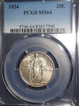 1924 25C STANDING LIBERTY QUARTER PCGS MS64  SHE'S A DAZZLER
