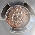 1853 SEATED LIBERTY SILVER HALF DIME W/ ARROWS PCGS UNC DETAILS CLEANED