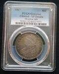 1817 CAPPED BUST HALF DOLLAR  PCGS GENUINE CLEANED   XF DETAILS
