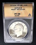 1976 S ULTRA CAMEO $1 EISENHOWER SILVER IKE PROOF DOLLAR T1 ANACS PF 68 DCAM
