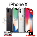 NEW Apple iPhone X 64GB 256GB⚫Space Gray⚪Silver🔓Unlocked✅AT&T✅Verizon✅T-Mobile