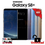 NEW SAMSUNG GALAXY S8+ PLUS Black Gray Silver Blue (SM-G955U1, Factory Unlocked)