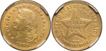 1879 GOLD FOUR DOLLAR STELLA. $4.00 FLOWING HAIR NGC PFAU DETAILS. MOUNT REMOVED