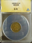 1909 S ANACS G6 INDIAN CENT  PLEASE CHECK OUT MY OTHER ITEMS