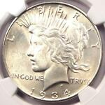 1934 D PEACE SILVER DOLLAR $1   CERTIFIED NGC MS62    UNC BU COIN