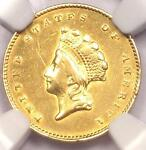 1855 TYPE 2 INDIAN GOLD DOLLAR G$1 COIN   CERTIFIED NGC AU DETAILS    DATE