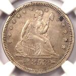 1853 ARROWS & RAYS SEATED LIBERTY QUARTER 25C   NGC AU DETAILS    TYPE COIN