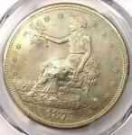 1875 S/CC TRADE SILVER DOLLAR T$1 COIN   PCGS AU55 CHOP MARK    S/CC