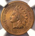 1877 INDIAN CENT 1C   NGC VF DETAILS    KEY DATE COIN   CERTIFIED PENNY