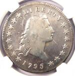 1795 FLOWING HAIR SILVER DOLLAR $1 COIN   NGC FINE DETAILS    COIN