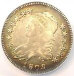 1809 CAPPED BUST HALF DOLLAR 50C O 115   NGC XF DETAILS EF    DATE