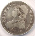 1818/7 CAPPED BUST HALF DOLLAR 50C   ANACS VG10 DETAILS    OVERDATE COIN