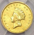 1855 O TYPE 2 INDIAN GOLD DOLLAR G$1 COIN   PCGS AU DETAILS