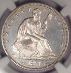 1874 PROOF ARROWS SEATED LIBERTY HALF DOLLAR 50C COIN   NGC PROOF DETAIL  PF/PR
