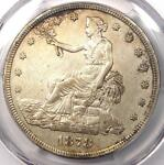 1878 S TRADE SILVER DOLLAR T$1   CERTIFIED PCGS AU DETAIL    CERTIFIED COIN