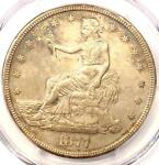 1877 S TRADE SILVER DOLLAR T$1   PCGS XF DETAILS CHOP MARK    COIN